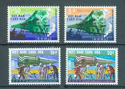Thematics, trains South Vietnam set of 4 sg.S326-9 MNH