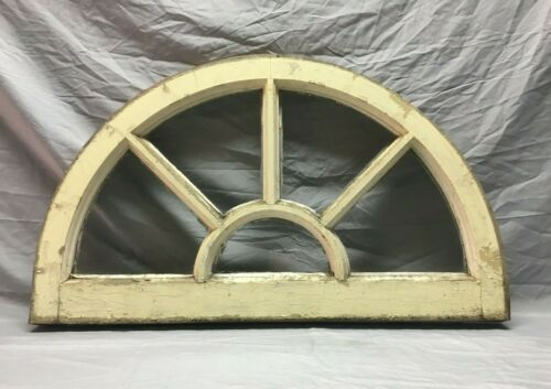 Antique 19x32 Arch Half Round Window Arched Sash Shabby 5 Lite VTG Chic 144-19J