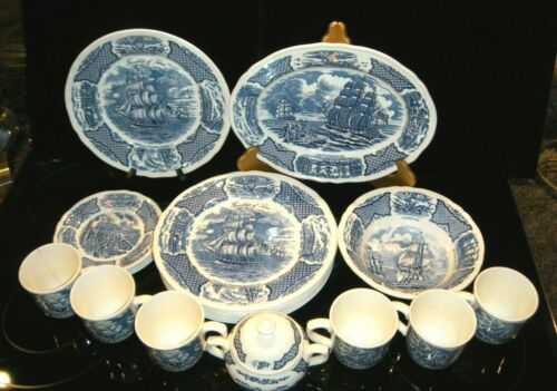 Fair Winds Blue on White Dinnerware by Alfred Meakin, Staffordshire, England