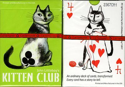 Kitten Club Cat Playing Cards Poker Size Deck Cartamundi Custom Limited -
