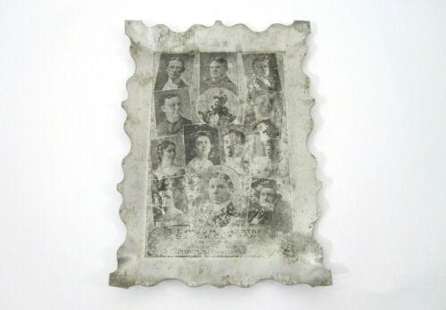 RARE Antique Photo Tin Tip Tray Albaugh