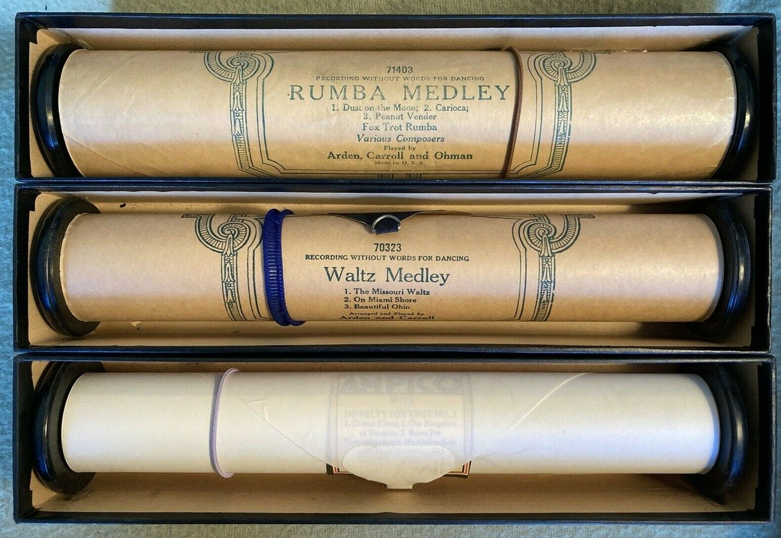 Vintage Ampico Player Piano Rolls, Previously Played - Bundle Of 3 Rolls - $20.63