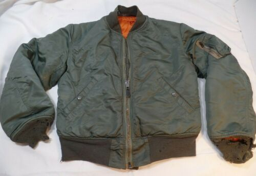 Vintage MA-1 Vietnam Flight Jacket USAF 1969 Sportsmasters small