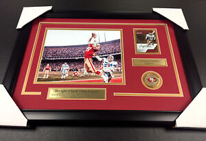 DWIGHT CLARK THE CATCH AUTOGRAPHED CARD FRAMED SAN FRANCISCO 49'ERS 8X10 PHOTO