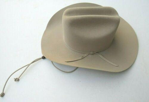 western cowboy Hat felt Ranch Tan STETSON 5X XXXXX 4 Brim 6 3/4 Size adult USA