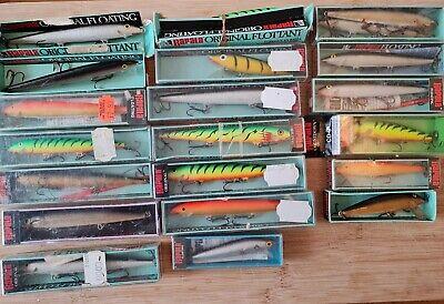 21 RAPALA PIKE FISHING PLUGS LURES VINTAGE Boxed HUSKY COUNTDOWN