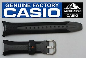 CASIO-PATHFINDER-PRG-70-Original-Black-Rubber-Watch-BAND-Strap-PRG-70J