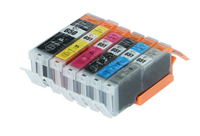 6x Ink cartridge For PGI650 CLI651 XL Canon Pixma MG7150 MG7560 MG6360 Printer