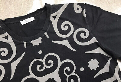 mens versace t shirt Extra Small Black Grey/silver Genuine