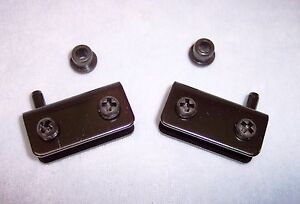 Lot of (1 Pair) Black Pivot Door Hinges ~ For Up To 1/4