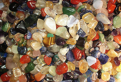 TUMBLED (DISCOUNT : IMPERFECT) - 1 lb Tumbled Stones - Various Mix, Various - 1 Lb Tumbled Stones