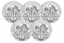Lot of 5 - 2018 1oz Austrian Silver Philharmonic .999 Fine BU