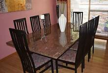 LAVAMAR CRYSTAL STONE ALABASTER  DINING TABLE  WITH 8 CHAIRS. Faulconbridge Blue Mountains Preview
