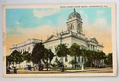 c1920 POSTCARD - DUVAL COUNTY COURT HOUSE   JACKSONVILLE,FLA.