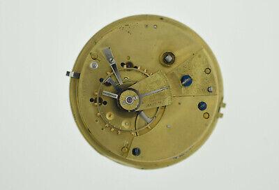 Old English Fusee Pocket Watch Movement 46.3 mm Good Balance Key Wind (SO102)