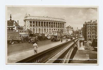 Unilever House  Blackfriars Bridge In London  England Rppc B W Postcard