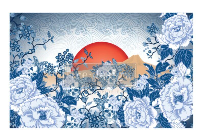 Skull Chinoiserie - CeCe Decoupage Decor Tissue Paper Redesign With Prima