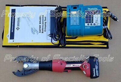 Greenlee Gator Ek425l Battery Hydraulic Crimper Cjd3o Jaw 6 Ton Crimping Tool