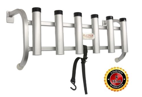 Plattinum, Fishing Rod Holder Fits Over The Tailgate or Truck Bed All Aluminum