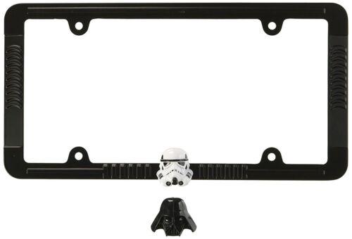Star Wars Darth / Stormtrooper Heavy Duty Black Metal Auto License Plate Frame
