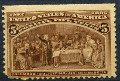 Scott # 234  -  One 5 Cent Soliciting Aid of Isabella Stamp  - 1893 - OG  -  MNH