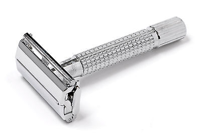 Butterfly Safety Razor & 10 Blades Double Edge Classic Shaving Vintage Retro