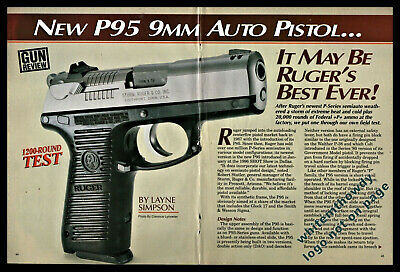 1996 RUGER P95 9 mm Auto Pistol 6-pg Gun Test Article May be Ruger's best
