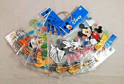 Disney Scrapbook Stickers Ribbons Bottle Caps Mickey Minnie Mouse and (Dimensional Stickers Minnie Mouse)
