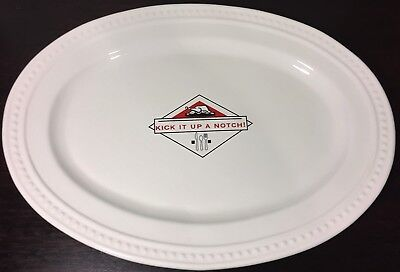 "Emeril Lagasse Large Turkey / Holiday Platter 18"" ""Kick It Up A Notch"" VG"