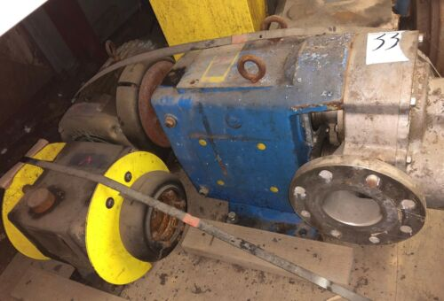"Waukesha 4"" 5070 Positive Displacement SS Pump w/15 HP Motor & Gearbox(Item #33)"