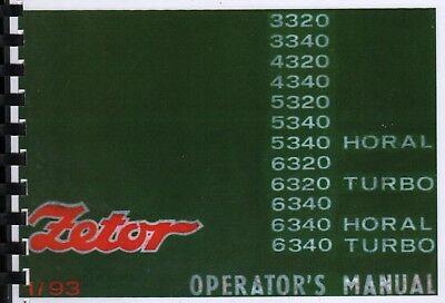 Używany, Zetor Tractor 3320 3340 4320 4340 5320 5340 6320 6340 Horal & Turbo Operator's na sprzedaż  Wysyłka do Poland