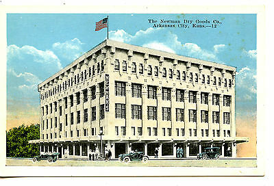 Newman Dry Goods Company Store Building-Arkansas City-Kansas-Vintage Postcard - Party Good Store