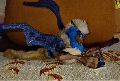 VINTAGE Renaissance Faire Fantasy Rabbit Fur Shoulder Cable Dragon Puppet