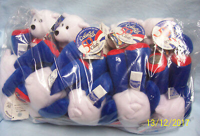 """Lot of 10 Limited Treasures 9"""" Collectible Bears in Bag - #6  Massachusetts"""