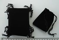 10 X Black Velour Gift Pouches / Bags With Drawstrings, 90mm X 70mm - unbranded - ebay.co.uk