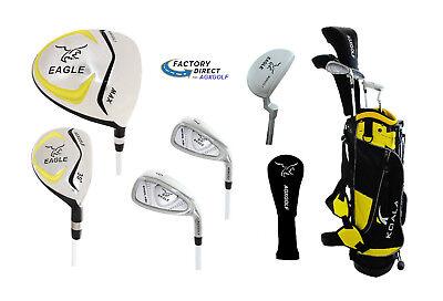 Junior Eagle Graphite Golf Club Set w/Stand Bag, Driver, Hybrid, Irons & Putter (Junior Golfschläger Graphit)