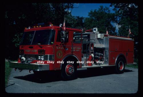 West View PA 1984 Pierce Dash pumper Fire Apparatus Slide