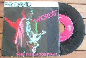 F-R-DAVID-Words-1982-Vinyl-7-034-45-RPM-Carrere-CAR-0036