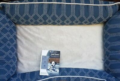"""Members Mark Maxguard Large Removable Cover Pet Dog Bed 39"""" x 27"""" Blue"""