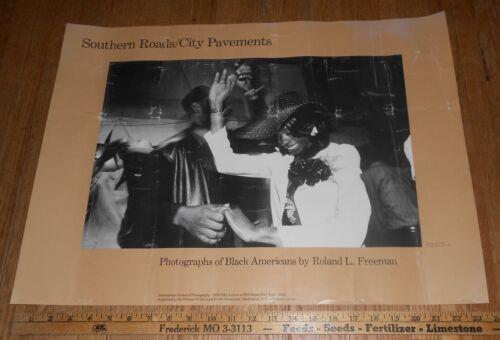 1982 Vintage Exhibit Poster Photographs of Black Americans by Roland L. Freeman