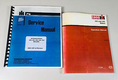 International 435 445 Baler Operators Owners Service Repair Shop Manual Ih New