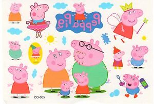 Girls peppa pig temporary tattoo party prizes party bag for Peppa pig tattoo