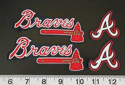 Atlanta Braves Applique - Atlanta Braves MLB Team Fabric Iron On Applique Patch NO SEW Shirt Logo DIY Art