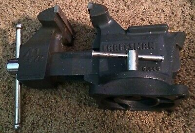 Vintage Craftsman 51865 Swivel Bench Vise - 4 12 Inch Jaws - Made In Usa