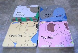 Four Board Books-Baby Animals,Counting, Toytime,Things that Move