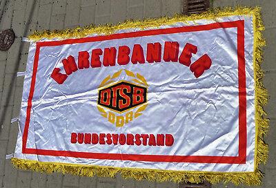 orig.Große Fahne Flagge Ehrenbanner Bundesvorstand DTSB DDR SED XI Parteitag