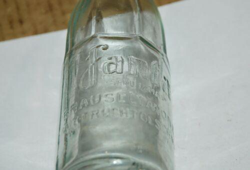 WW2 German Fanta schutzmarke by Coca-Cola Glass Bottle 0.25l 1942