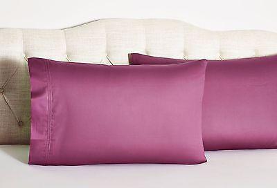 Yves Delorme Triomphe Red King Pillowcases Raspberry Rubino Egyptian Cotton - Red King Pillowcases