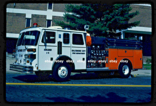 Baltimore MD E14 1990 Sutphen pumper Fire Apparatus Slide