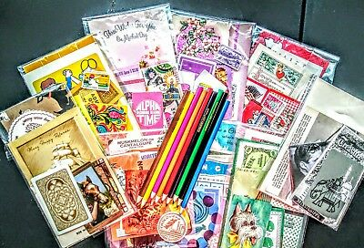 Vintage Junk Journal Kit. Vintage Ephemera. Your choice of mini pack color.